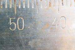 Nombres antiques d'échelles images libres de droits