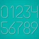 Nombres au néon bleus Photos stock