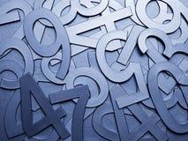 Nombres bleus de texture en métal Image stock