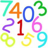 Nombres colorés Image libre de droits