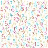 Nombres colorés Images stock
