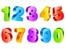 Nombres colorés Photographie stock libre de droits