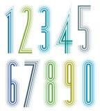 Nombres décoratifs grands colorés géométriques Photos stock