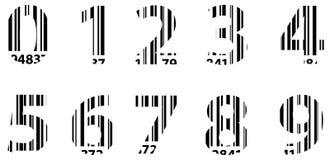 Nombres d'alphabet de code barres d'affaires Images libres de droits