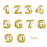 Nombres 3D grunges d'or Images libres de droits