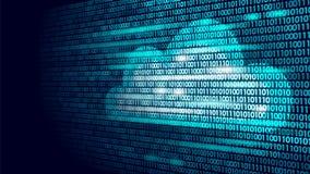 Nombres de calcul de code binaire de stockage en ligne de nuage Future technologie moderne d'affaires d'Internet des grandes info illustration libre de droits