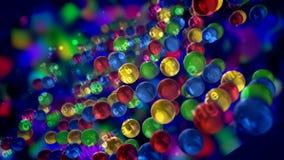 Nombres de Crystal Balls With Chemical Elements stock de ilustración