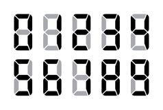 Nombres de Digital pour l'écran électronique d'affichage à cristaux liquides Image stock
