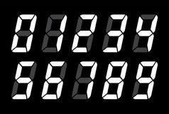 Nombres de Digital pour l'écran électronique noir d'affichage à cristaux liquides Images stock