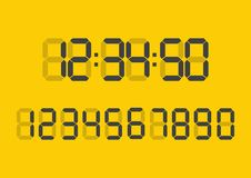 Nombres de Digital réglés Numérique numérique de calculatrice Photographie stock libre de droits