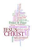 Nombres de Jesús Imagen de archivo libre de regalías