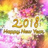 Nombres de l'aquarelle 2018 Photo libre de droits