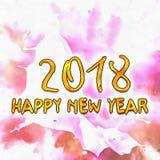Nombres de l'aquarelle 2018 de dessin Photos stock