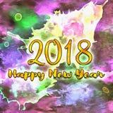 Nombres de la bonne année 2018 d'années Images libres de droits