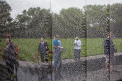 Nombres de las muertes de la guerra de Vietnam en Fotografía de archivo