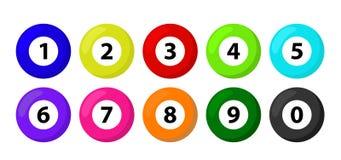 Nombres de loterie de boule Illustration de vecteur de concept de chance de jeu de bingo-test de loto illustration de vecteur