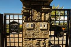Nombres de rue d'un village italien Photo libre de droits