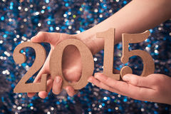 2015 nombres de signe Photographie stock libre de droits