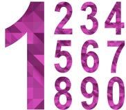 Nombres de triangle Images stock