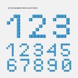 Nombres de vecteur de constructeur de plastique - Le fichier du vecteur illustration libre de droits