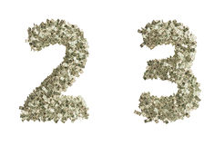 Nombres du dollar Images stock