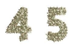 Nombres du dollar Images libres de droits