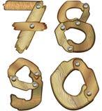 Nombres en bois Illustration de Vecteur