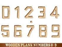 Nombres en bois de planche Photo stock