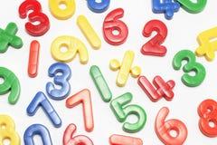 Nombres en plastique Image libre de droits