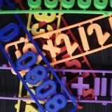 Nombres en plastique d'aimants Photo libre de droits