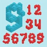 Nombres en plastique de blocs illustration stock
