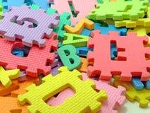 Nombres et lettres colorés Image stock