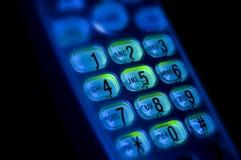 Nombres et lettres de clavier numérique de téléphone Images stock