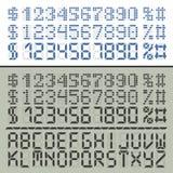 Nombres et lettres de police numériques d'Extened Photographie stock libre de droits