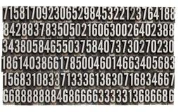 Nombres faits au hasard dans le type d'impression typographique en métal images stock