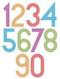 Nombres géniaux de rétros rayures réglés Photos libres de droits
