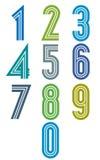 Nombres géniaux de rayures réglés Photographie stock