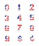 Nombres grunges de drapeau Photo stock
