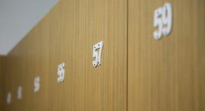 Nombres impairs sur des portes Photo stock