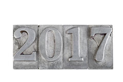 2017 nombres métalliques Photo stock