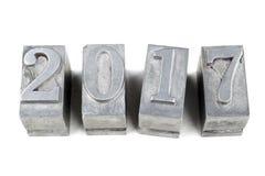 2017 nombres métalliques Images libres de droits