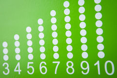 Nombres montrant le nombre avec des boules Photographie stock