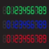 Nombres numériques de calculatrice Nombres de Digital réglés Illustration de vecteur illustration libre de droits