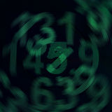 Nombres numériques de rotation Image libre de droits