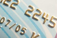 Nombres par la carte de crédit Photo libre de droits