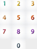 Nombres réglés, icône de Web Photographie stock libre de droits