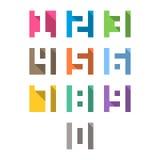 Nombres réglés, long style d'ombre Image libre de droits