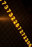 nombres rougeoyants digitaux Images stock