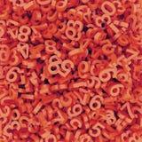 Nombres tombés rouge-oranges abstraits 3d rendent le fond Image stock