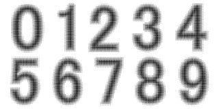 Nombres tramés d'effet Vecteur pointillé de police Nombres de relief pointillés Conception monochrome de vecteur de police Images libres de droits